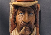 carved faces lovely , funny / by Peter Wentzel