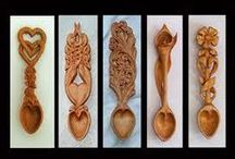carved spoons cups bowls / by Peter Wentzel