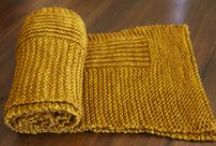 Knit scarves/cowls