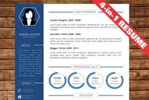 CV / Resume Templates in MS Word / The board is about creative job resume templates created in Microsoft Word that are easy to edit and be different than anyone else.