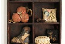 pincushions & sewing treasures / by Leslie Rozum