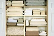 organize LINEN CLOSETS / Home Organization & Storage Ideas I Love! / by AmyeToTheRescue! Professional Organizer