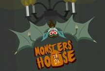 *Monsters´N Da House* / #cartoon #monsters #illustrations