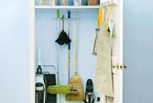 organize BROOM CLOSETS / UTILITY & CLEANING CENTER | Home Organization & Storage Ideas I Love! / by AmyeToTheRescue! Professional Organizer