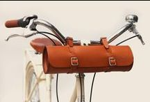 Bicycle / Ideas for bicycle accessories, like baskets, leather seats, brass bells, and storage.