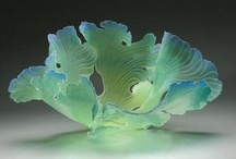 Sea Fans / These wonderful sea fans were made by glass artist Janet Kelman, from Ann Arbor Michigan.  I discovered my love for art glass after seeing one of her sea fans in a gallery.  Aren't they amazing? / by Paul Messink