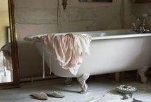 ...Le Bain... / Bathroom decor, full of tubs, sinks, toilettes, and tiles. / by Eva Kosmas Flores
