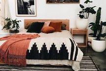 Bedroom / Bedroom interior design, DIY, remodel, before and after, storage, bedding, linen, beds, shelving and furniture.