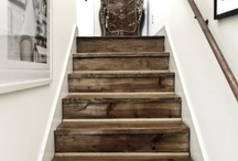 Stairs / Stair and staircase interior design, DIY, remodel, before and after, storage solutions, shelving, hidden room, cubby, and drawers.