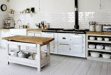 Kitchen Design / Kitchen interior design, DIY, remodel, before and after, sinks, counters, flooring, shelving and appliances.