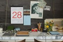 Creative Spaces / Creative . Office Space . Studio . Lofts . Workspace . Inspiration Wall . Work Table . Desk . Tables
