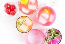 Happy Hour / Summer Drinks . Cocktails . Color . Fruity . Shaken . Frozen . On Ice