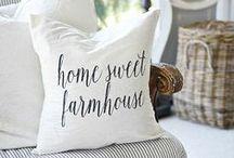 Home Sweet Farmhouse / rustic farmhouse home