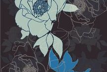Pattern for fabric design / Collecting ideas for a new project to come. A beautiful pattern for a silk scarf.
