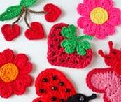 Hearts / Crochet heart shaped appliques and other creations