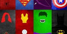 Marvel & DC / My heart is divided and full of heroes
