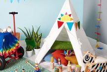 Funky Kids Zone / Kids imaginative bedroom and playroom interiors , kids tepees , bunk beds, murals , kids lighting , kids room storage