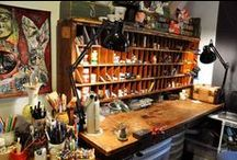 Creative Space / The space where I create.  Inspiration for organizing and the supplies I use.