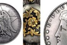 Favorite Conchos for Horse Tack and Leatherwork / There are certain conchos that have the quality and characteristics that we personally admire. People use conchos for a variety of reasons. Most are used to decorate western horse tack, chaps, belts, holsters, upholstery, wood work, frames and mirrors. Conchos have a small threaded post in the center back to accept the Chicago Screw. (a flat bottom screw) We also have necklace adapters, cabinet pull adapters and wood screw adapters for the DIY crafter.