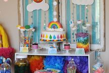 Baby shower / Relaxed rainbow baby shower