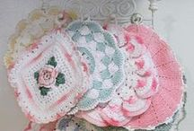 Crochet: Pot Holders, Hot Pads, Dish Rags, etc. /   / by Teresa Penny