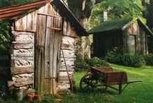 Potting Sheds  / I fell in love with plants as a kid.  I still remember seeing my first hydrangea, my first sweet peas and ranuncula's.  Houses that had gardens, I studied.  They inspired my love of the garden. It's where I grow too!  Enjoy!