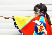 Superhero - Superheroine - girl power / Clothing and dress ups to empower girls and boys .