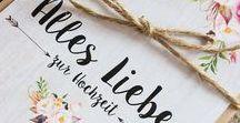 Hochzeit / Wedding / Inspiration für den schönsten Tag im Leben: Ideen für die Dekoration, Einladungskarten und viele weitere einzigartige Produkte.