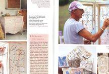 Mauro Burani artigiano Artista a Canossa / L'artista Mauro Burani crea delle installazioni emozionali, con pezzi di recupero, ispirate a visioni delle terre matildiche in cui vive.Le tele raccontano macchie di colore .il tempo che passa inesorabile ma non cancella graffiti d' amore, poesie,scritte, pensieri d'amore .