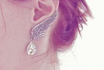Earring Collection / A collection of earrings and ear cuffs