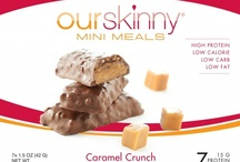 OurSkinny Bars / 15 grams of protein and under 200 calories per bar? You deserve a little something extra right?