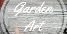 Garden Art / bring beauty and creativity to your garden, along with the flowers and the trees. http://www.aroundthefirepit.com