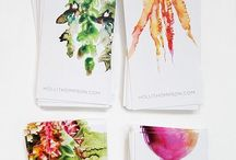 Business cards and labels. / Labels, cards, packaging ideas, and stylish graphics that catch my eye.