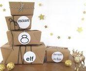 Adventskalendar / advent calendar / Wir läuten die Weihnachtszeit mit handgemachten und kreativen Adventskalendern ein. Such Dir Deine liebste, weihnachtliche Inspiration und erfreue Deine Lieben mit einem originellen Adventskalender.