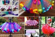 Ihanuuksia tytylle / Ihania ideoita pikku prinsessan pukeutumiseen jos on vähän taitoa ommella.