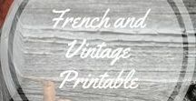 French and Vintage Printables / Printables: French and vintage