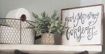 Farmhouse Decor - farmhouse decor ideas for the home / Farmhouse decor ideas for your home. This board is for those that love cozy farmhouse style decorating, using rustic decor, fresh flowers in pretty vases, wire baskets and all the simple things in life.