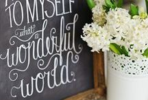 """• Chalkboard Designs • / """"My eyes were made to erase all that is ugly."""" -Raoul Dufy"""