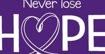 Purple is the Color for... / Purple is the awareness color for Alzheimer's Disease, ADD & ADHD, Crohn's & Colitis, Cystic Fibrosis, Domestic Violence Awareness, Epilepsy, Pancreatic cancer, Thyroid Cancer, Lupus , March of Dimes and many other worthy Organizations