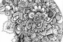 zentangle/zendoodle / zentangle samples, ideas and directions