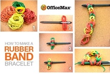 Rubber Band Ball Crafts / The OfficeMax Rubber Band Ball is so versatile! Besides a good game of office catch, it unravels for countless crafts and fun projects.