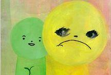 kentaro minoura / tiny, pastel coloured people