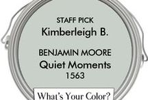 What's Your Color? Staff Picks! / We asked all of our staff members to pick their favorite Benjamin Moore or Farrow & Ball color.