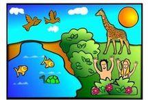 Kliederkerk Schepping / scheppingsverhaal en hoe mooi de wereld gemaakt is.