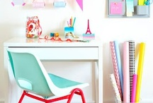 HOME : Work Space / Beautiful and relaxed home offices and craft rooms / by A Thrifty Mrs