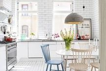 HOME : Kitchen, dining, utility, pantry / The most beautiful and fun kitchens. / by A Thrifty Mrs
