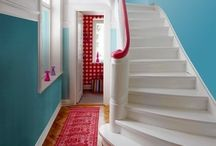HOME : Hall, stairs and landing / The hall, stairs and landing are often over looked in your home. Here are some beautiful ideas. / by A Thrifty Mrs