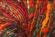 Fiber art / String, yarn thread fabric cloth. They make the world a soft beautiful place.  / by Audrey Kerchner Studios
