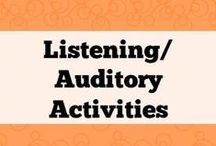 Comprehension & Listening/auditory activities / Activities to work on listening and other hearing resources