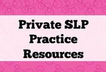 Private SLP Practice Resources / Resources to help you get started--or maintain--your private practice!  If you would like to collaborate on this board please email your request to: Kim.lewis@activitytailor.com.